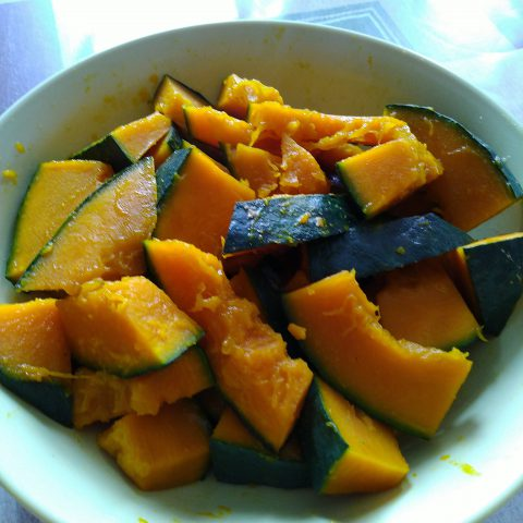 かぼちゃをレンチン