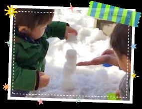雪遊びの1コマ