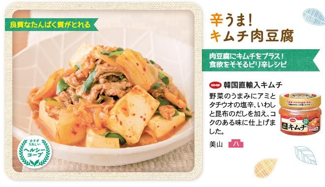 辛うま!キムチ肉豆腐 CO・OP韓国直輸入キムチ