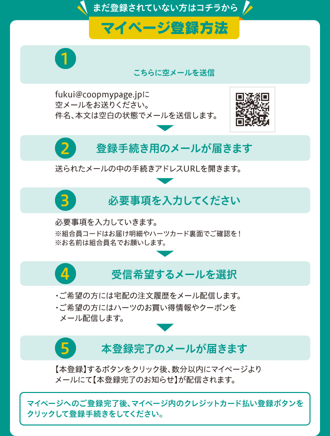 マイページ登録方法